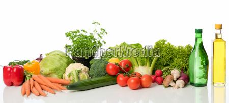 varios tipos de verduras como espacio