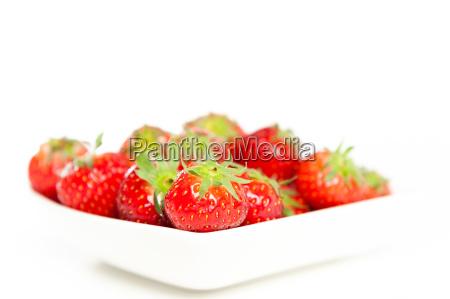 comida fruta concha palido rojo fresas
