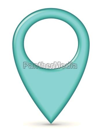 correspondencia azul pin