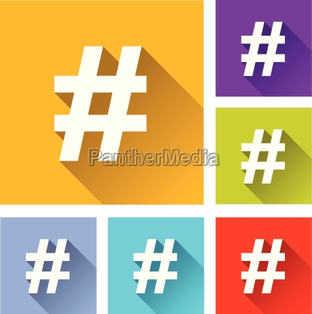 hashtag icons