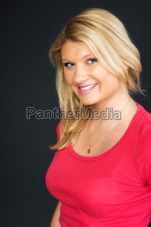 pretty blond woman in portrait