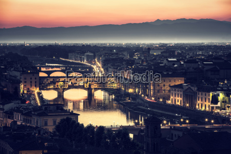 beautiful florence at night