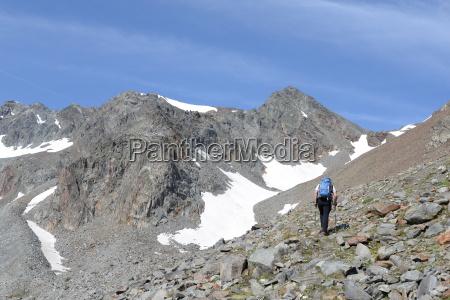 ascenso a daunjoch alpes de stubai