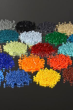de plastico granulos polimero reciclar reciclaje