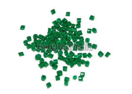 diversos granulos de plastico de plastico