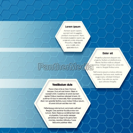 blue hexagon business background design