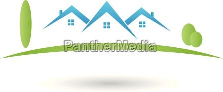 logotipo propiedad casa techo