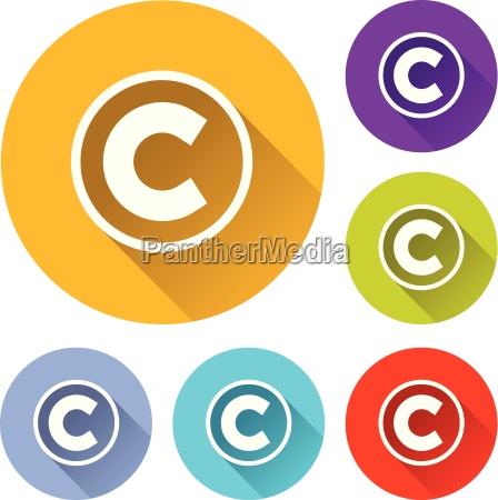copyright icons