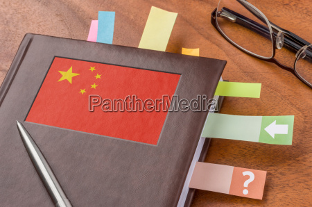 schedule with the flag of china