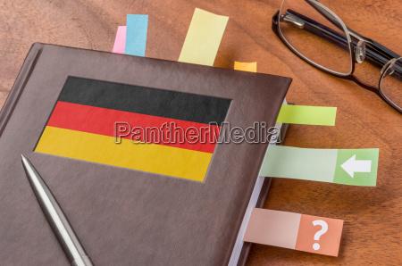 calendario con la bandera de alemania