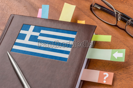 schedule with the flag of greece