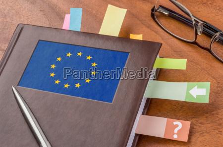 calendario con la bandera eu