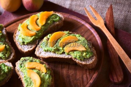 comida pan propagacion sandwich vegetariano melocoton
