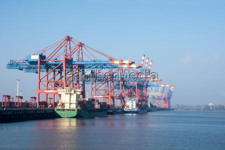 puerto de carga de hamburgo en