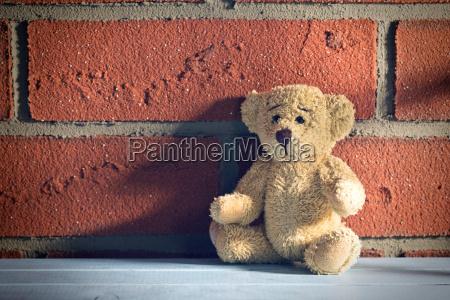 oso de peluche sentado en frente