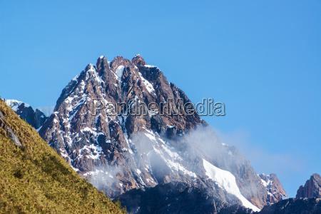 mountain peak near huaraz peru