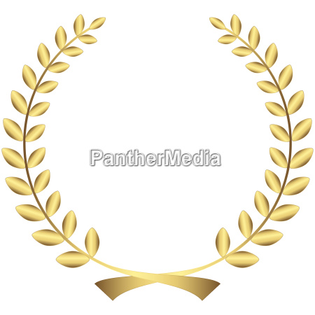 guirnalda de laurel de oro