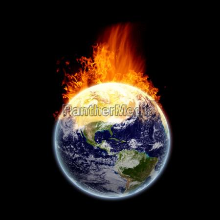 quema de la tierra textura