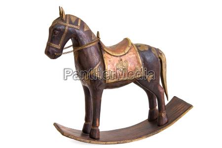 liberado caballo madera decoracion silla de