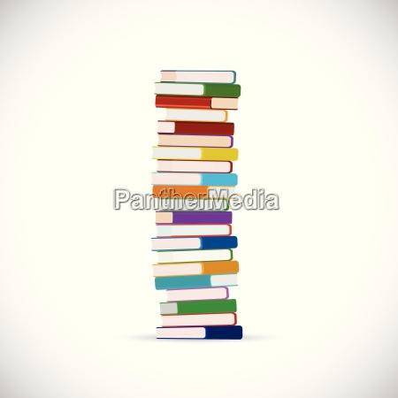 pila de ilustraciones de libros