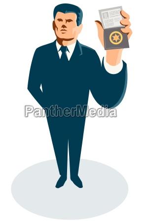monedero de la tarjeta de identificacion