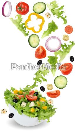 ensalada saludable comida vegetariana con cebolla