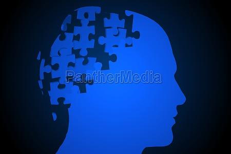azul negro ilustracion digital rompecabezas parte