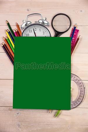 estudio escritorio educacion color verde alumno