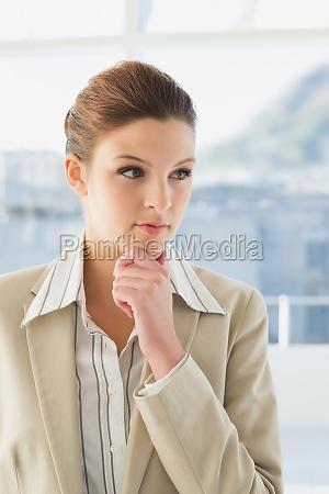 mujer oficina hermoso bueno femenino marron
