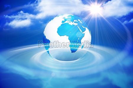 azul ilustracion digital informacion tecnologia globo