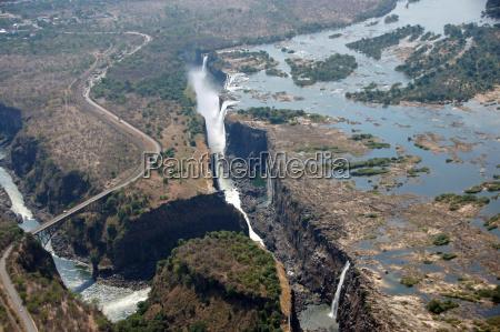 africa cascada globo columna gota zimbabue