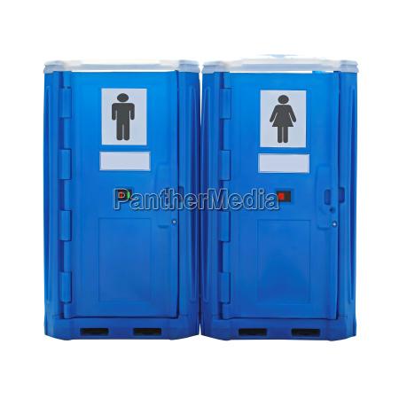 azul wc lavabo de plastico cabina