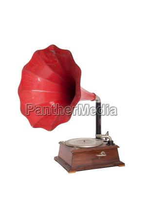 grammophone en rojo