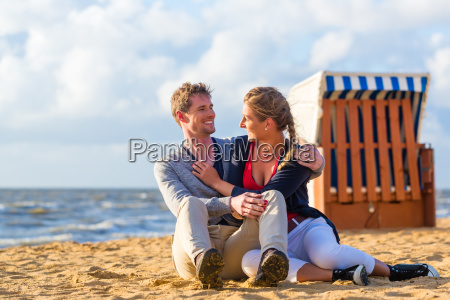 couple in romantic sunset on the