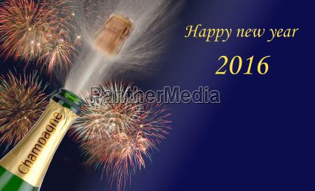 anyo nuevo 2016 con el champan