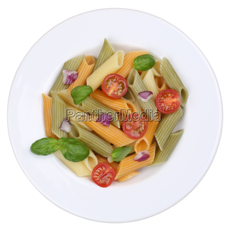 colorful penne rigate pasta pasta dish