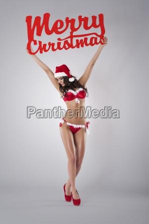 sexy santa deseandote feliz navidad