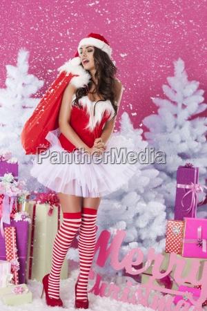 vengo con regalos de navidad