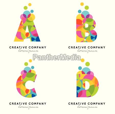 logotipo de letras del alfabeto