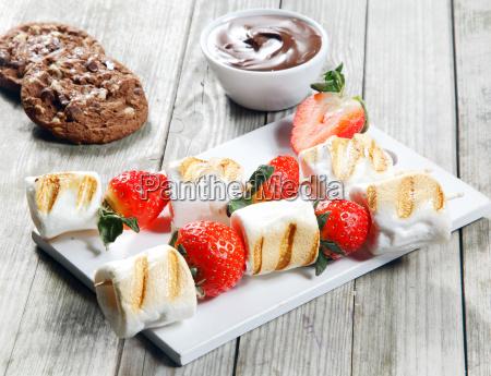 comida mesa dulce madera azucar fruta