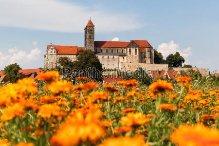 vista al castillo de quedlinburg y
