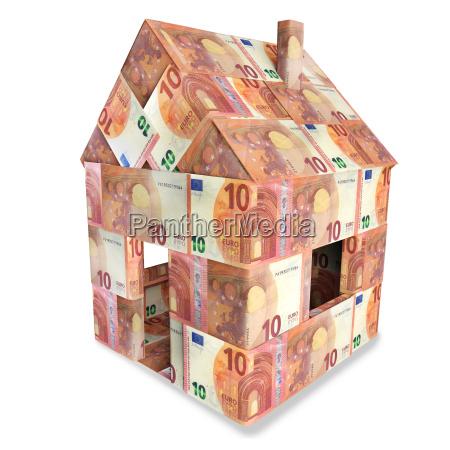 casa de 10 euronotes