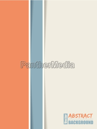 simple brochure with orange blue and