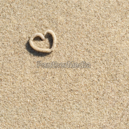 summery declaration of love heart in