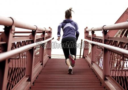 eeuu horizontalmente al aire libre jogging