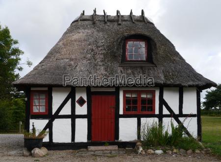 tudor style house in ebeltoft in