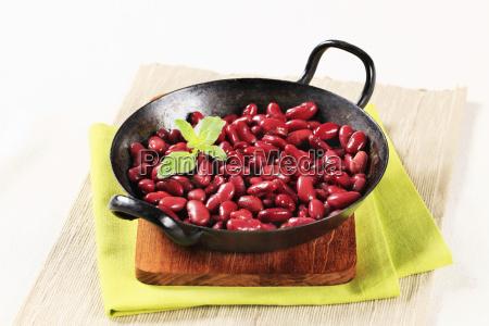 frijoles rojos cocidos