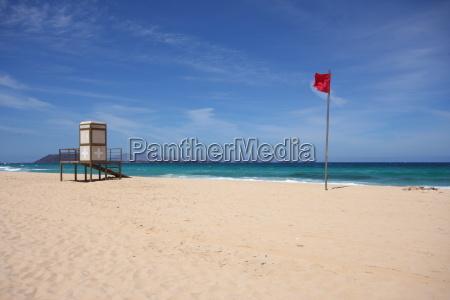 bandera, estado, canario, salvavidas, prohibición de baño, posición - 14107997