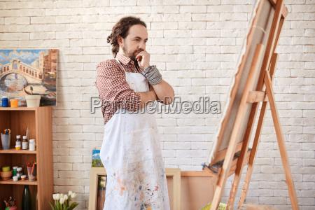 artista en estudio