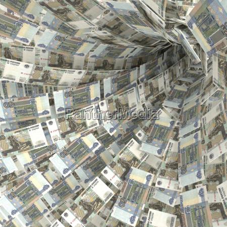 remolinos en efectivo de 50 rublos